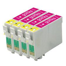 4 Magenta Ink Cartridges for Epson Stylus Photo R240 R245 RX420 RX425 RX520