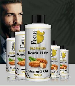 Organic Beard Oil Promotes Growth Fuller Thicker Beard 100% Natural Oils