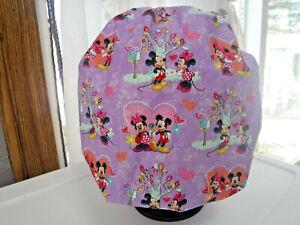 Bouffant surgical scrub hat cap purple lavender disney minnie mickey valentine