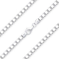 4mm Classic Box Link Italian Chain Bracelet in Solid .925 Italy Sterling Silver