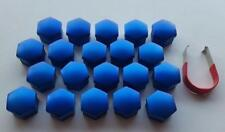 17mm MID BLUE Wheel Nut Covers with removal tool fits BMW