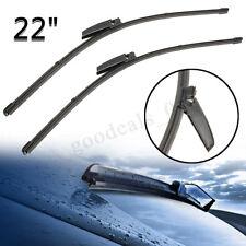 """22""""+22""""Coppia Anteriore Tergicristallo Parabrezza Spazzole Per AUDI A4 S4 A6 S6"""