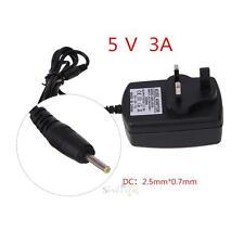 2.5x0.7mm AC110-240V to DC 5 V 3 un bloc d'alimentation Chargeur Adaptateur Convertisseur UK Plug
