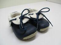 Crocs Kids Blitzen Convertible Navy Blue Clog Shoes, Junior Sz c6-c7/ EU 22-24