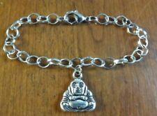 bracelet argenté 20 cm bouddha
