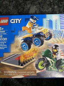 LEGO City 60255 Stunt Team Kit Set Box 62 pcs Dirt Motocross Bike 4 Wheeler NEW