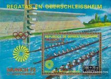 Äquatorialguinea block15 (complete issue) fine used / cancelled 1972 olympic. Su