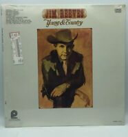 """JIM REEVES """"YOUNG & COUNTRY"""" - VINTAGE LP - 12"""" FACTORY SEALED"""