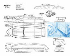 """MODEL BOAT PLANS 16 1/2"""" CRUISER BEGINNER PROJECT RADIO CONTROL  GAS OR ELECTRIC"""