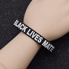 Gummi Armband Wristband Anti Rassismus Schwarz Black Lives Matter Aufschrift