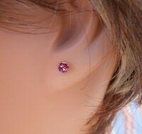 Silver Deer HYPOALLERGENIC Stud Earrings Lead Free Nickel Free  Small Rose Color