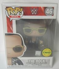 Funko Pop Wwe #46 The Rock (Black Jacket) Figure Limited Chase Edition 2017