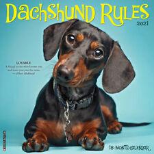 Dachshund Rules (dog breed calendar) 2021 Wall Calendar (Free Shipping)