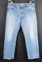 Vintage LEVI'S 501 Button Fly Denim Jeans Mens Size 38x32 Actual (37x30)