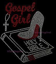 "HOTFIX RHINESTONES HEAT TRANSFER IRON ON ""GOSPEL GIRL"""