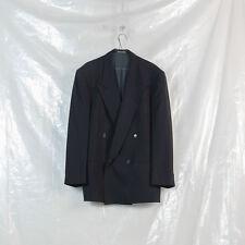 GIORGIO ARMANI COLLEZIONI black wool double breasted blazer L M
