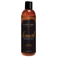 Intimate Earth Almond Aromatherapy Massage Oil 4oz - Honey Almond