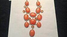 Coral Stone 16 Inch necklace With Matching Earrings by DaVinci