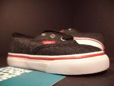 BABY 2012 Vans AUTHENTIC ERA TD DENIM BLACK WHITE TRUE RED VN-0OKO54E NEW 5T 5