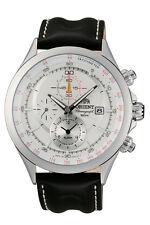 ORIENT CTD0T004W Herrenuhr Chronograph Aviator Leder Weiß