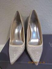 Jennifer Lopez Gigi Blush Silver Studded Pumps High Heels Shoes Sz 9M NIB $75