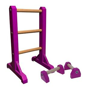 DUO SET - 3 Tier Ladder with Pair of Mini Paralettes handstand gymnastic acro