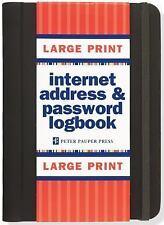 Large Print Internet Address & Password Logbook (Hardback or Cased Book)