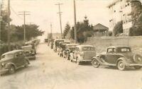 Autos 1940s Port Blakeky Washington RPPC real photo postcard 9871
