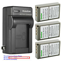 Kastar Battery AC Wall Charger for Olympus BLS-5 BLS5 PS-BLS5 BLS-50 Battery
