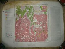 LARGE MAP WALMSLEY LAKE DISTRICT OF MACKENZIE NORTHWEST TERRITORIES CANADA 1952