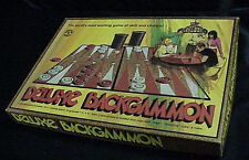1973 DELUXE BACKGAMMON BOARD GAME COMPLETE - PLEASANTIME GAMES/PACIFIC GAME CO