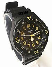 New Casio Men's Teens Watch 100M Date Day Quartz Analog Black Rubber MRW-200H-9B