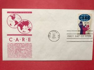 #1439 FDC 1971 Anderson Cachet 8c L939 CARE - Red