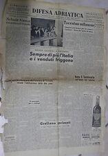 DIFESA ADRIATICA 7 Ottobre 1950 Seminario di Trieste Vecchi caffe di Fiume di e