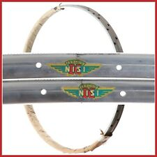 "NOS NISI CAMPIONE DEL MONDO RIMS 28"" 700c 28H VINTAGE TUBULAR 50s ROAD BIKE OLD"