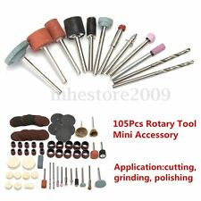 105PC Drill Kit Rotary Power Tools Polishing Cutting Grinding Accessory Set