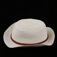 Lovely Doll Straw Hat Wide Brim for 25cm Mellchan Doll Clothes Accessories