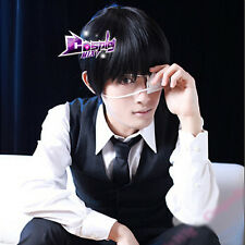 30cm Black Men Short Hair Full Wigs for Ken Kaneki Tokyo Ghoul Anime Cosplay Wig