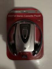 Durabrand Am/Fm Stereo Cassette Player Model: 1126 w/ Headphones Brand New