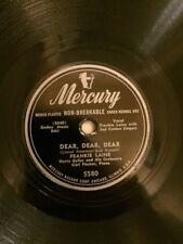"""FRANKIE LAINE 78 RECORD """" DEAR, DEAR,DEAR/ MAY THE GOOD LORD"""" MERCURY 5091"""