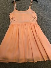 Woman's Topshop Petite Pink Strappy Summer Dress Size 8