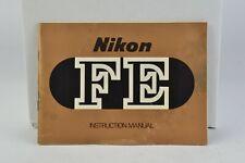 Nikon FE Camera Instruction Manual User Guide English GC (196)