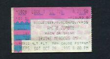 1995 White Zombie The Cramps Concert Ticket Stub Irvine Meadows CA Rob