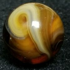 "NM+ .89"" # 9 SWIRL M.F CHRISTENSEN AND SON TRANSITIONAL MFC MARBLE AGATE ANTIQUE"