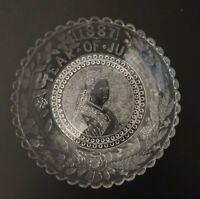 Original large Queen Victoria Jubilee glass bowl 1887