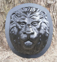 "Lion mold Concrete cement plaster ABS plastic mould 16"" x 14"" x up to 4"" thick"