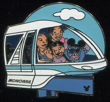 WDW Cast Lanyard Series 3 Transportation Lilo & Stitch Monorail Disney Pin 36554