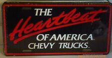 THE HEARTBEAT OF AMERICA CHEVY TRUCKS ALUM LICENSE PLATE SILVERADO PICKUP TRUCK