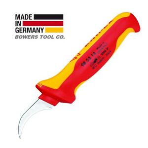 Knipex Cable Dismantling Hook Knife Surgical Steel 1000V Insulated 985313