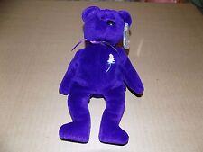 Ty Beanie Baby Purple Princess Diana Bear 1st Edition